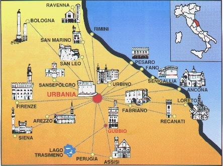 cartina urbania